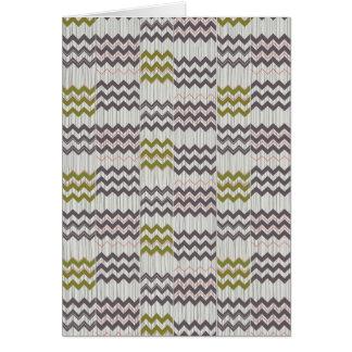 Modern Chevron Zig Zag Geometric Pattern Greeting Card