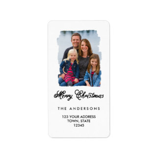 Modern Christmas Painted | Holiday Address Label