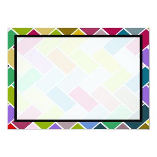 Modern Colorful Mosaic Wedding 13 Cm X 18 Cm Invitation Card