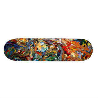 Modern composition 29 by rafi talby custom skateboard