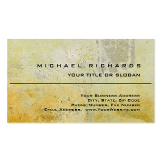 Modern Elegant Unique Plain Yellow Wall Mortar Pack Of Standard Business Cards