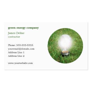 Modern Green Energy Business Card Template