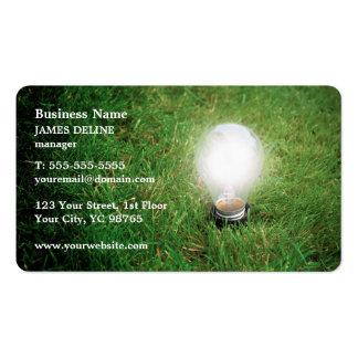 Modern Green Energy Light Bulb Grass Pack Of Standard Business Cards