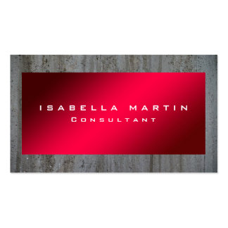 Modern Grey Wall Red Unique Trendy Creative Pack Of Standard Business Cards
