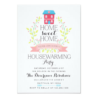 Modern Home Sweet Home Housewarming Party 13 Cm X 18 Cm Invitation Card