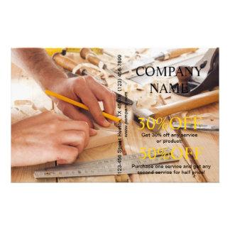 Modern Renovation Handyman Carpentry Construction 14 Cm X 21.5 Cm Flyer