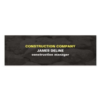 Modern Simple Grey Stones Construction Pack Of Skinny Business Cards