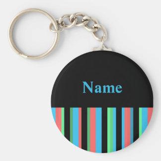 Modern Stripe Name Keychain Template
