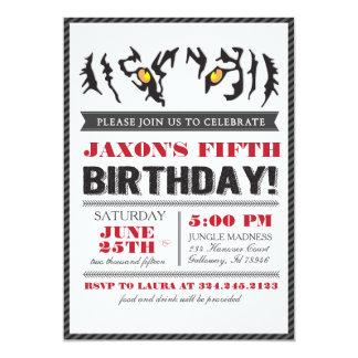 Modern Tiger Eyes Birthday Invitation