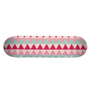 Modern tribal geometric pattern stripes chic print custom skate board