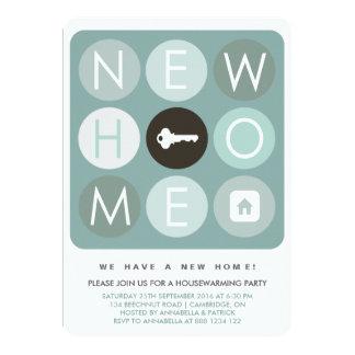 Modern Typography Housewarming Party Invitation
