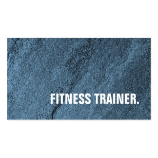 Modern Unique Blue Wall Fitness Trainer Pack Of Standard Business Cards