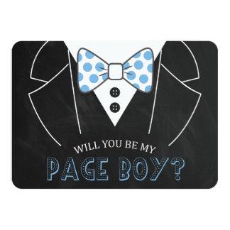 MODERN WILL YOU BE MY PAGE BOY | GROOMSMAN 11 CM X 16 CM INVITATION CARD