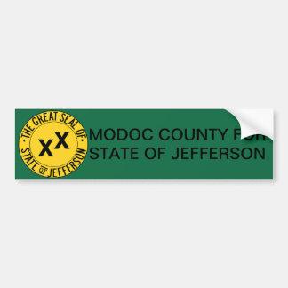 Modoc County for State of Jefferson bumper sticker