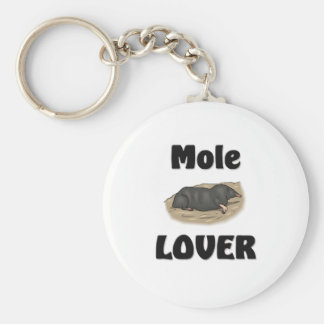 Mole Lover Basic Round Button Key Ring
