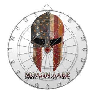 Molon Labe - Come and Take Them USA Spartan Dartboard