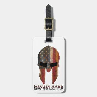 Molon Labe - Come and Take Them USA Spartan Tag For Bags