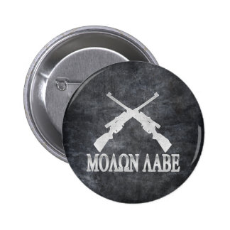 Molon Labe Crossed Rifles 2nd Amendment Gun Rights 6 Cm Round Badge
