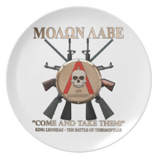 Molon Labe - Spartan Shield Party Plates