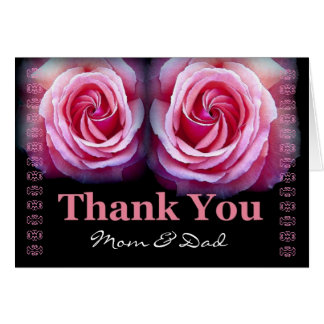 Mom and Dad - Wedding Thank You Greeting Card