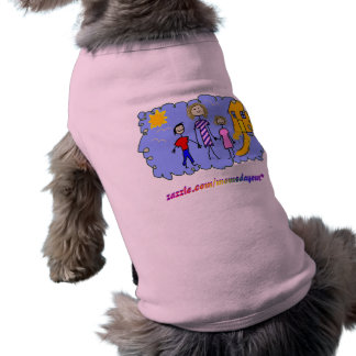Mom and Us, Going for a Walk Sleeveless Dog Shirt