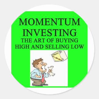 momentum investing round sticker