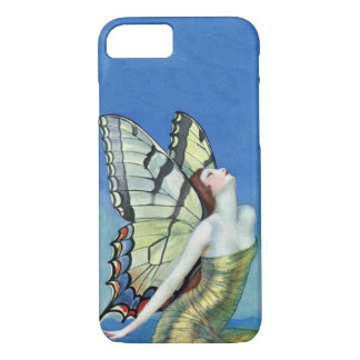 Monarch Butterfly Red Hair Vintage Fairy iPhone 7 Case