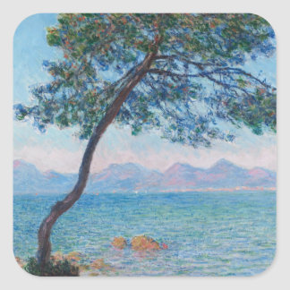 Monet Painting Square Sticker