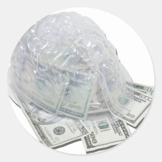 MoneyOnThEmIND121210 Round Sticker