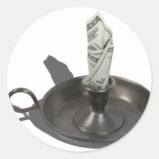 MoneyToBurn030811 Round Sticker