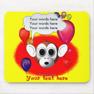 Monkey Birthday Party Mouse Pad
