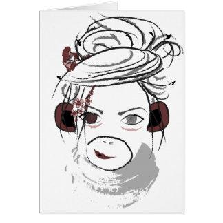 monkey. note card
