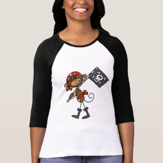 Monkey Pirate With Flag Tshirts and Gifts