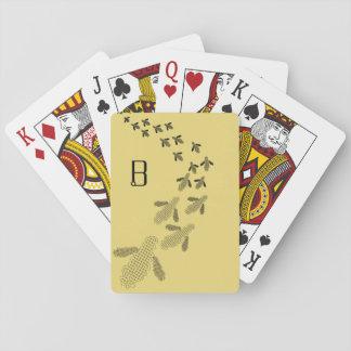 Monogram Bee Playing Cards