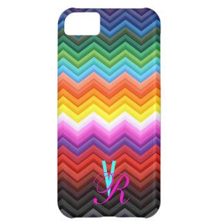Monogram Chevron Save the Date Rainbow Zigzag iPhone 5C Case