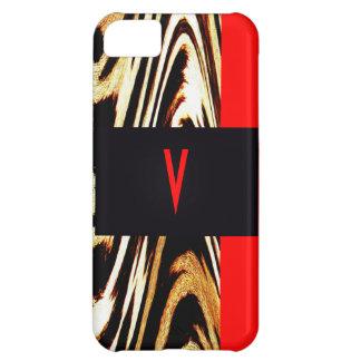 Monogram Chevron Stripes Wedding Letter Zigzag iPhone 5C Case