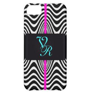Monogram Chevron Wedding Zigzag Retro Pink Letter iPhone 5C Case