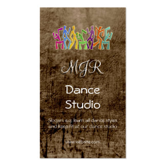 Monogram, Dance Studio, leather-effect Pack Of Standard Business Cards