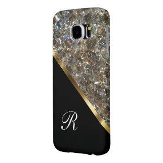 Monogram Glitzy Bling Style Samsung Galaxy S6 Cases