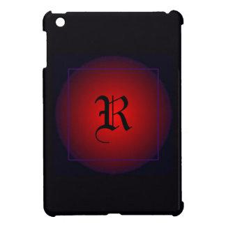 Monogram Initial Modern Wedding Goth Save the Date iPad Mini Case