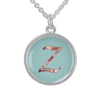 Monogram Initial Z Floral Design Necklace