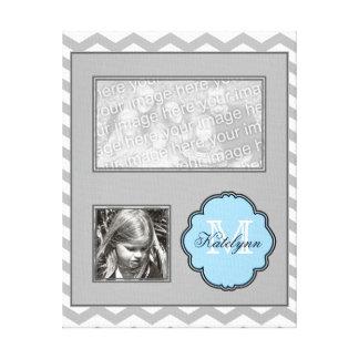 Monogram Photo Collage Wrapped Canvas Print