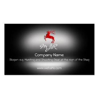 Monogram, Red Rutting Stag, metallic-effect Pack Of Standard Business Cards