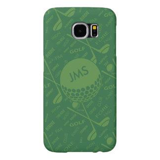 Monogrammed Subtle Golfer Pattern Samsung Galaxy S6 Cases
