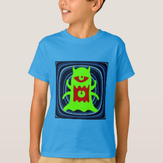 Monster From Outer Space Lime Green T-Shirt