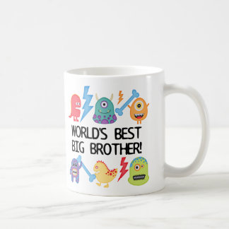 Monsters World's Best Big Brother Basic White Mug