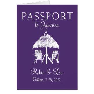 Montego Bay Jamaica Passport Birthday Trip Present Note Card