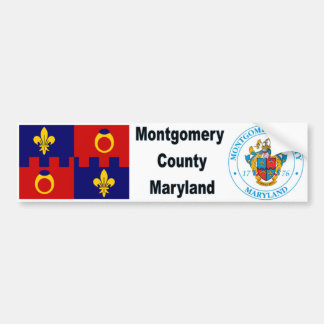 Montgomery County MD Flag and Seal Bumpersticker Bumper Sticker