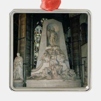 Monument to William Pitt the Elder Silver-Colored Square Decoration