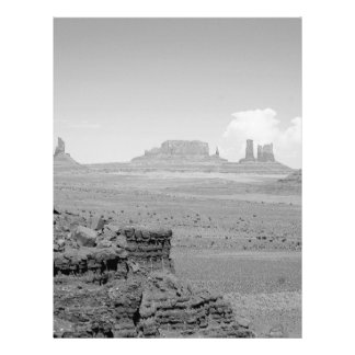 Monument Valley (black and white) 2 21.5 Cm X 28 Cm Flyer